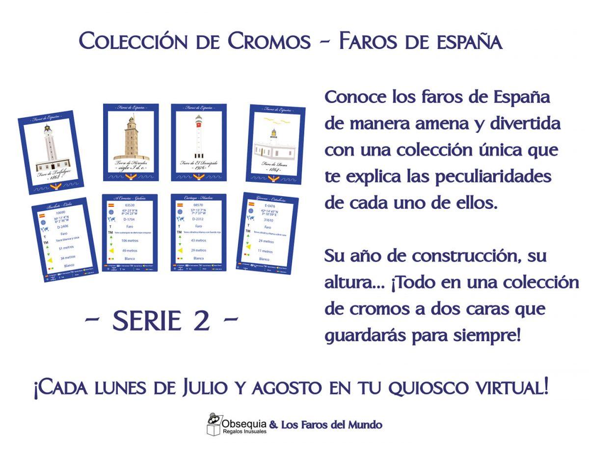 Colección de cromos -faros de España- Serie II