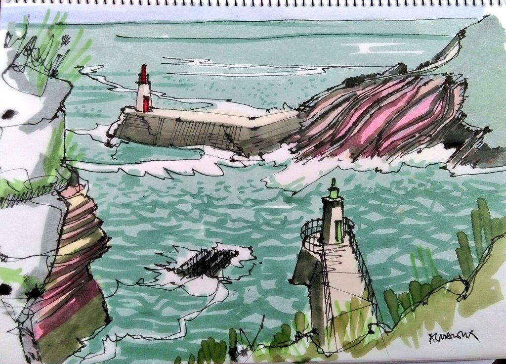 Faros dibujados por Paco Almanzor
