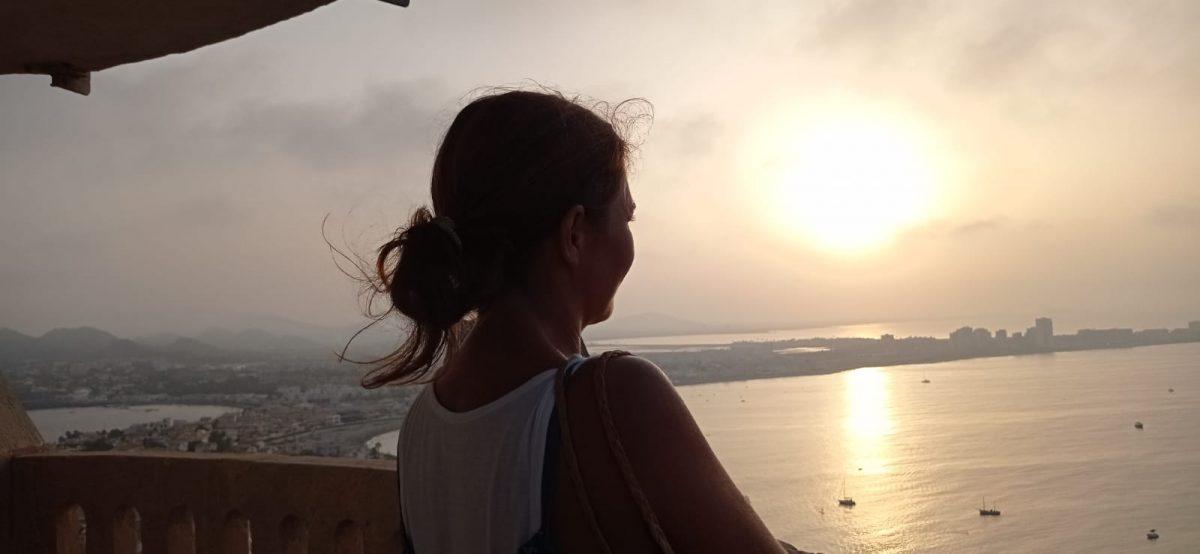 Desde la linterna del faro de Cabo de Palos por Elena