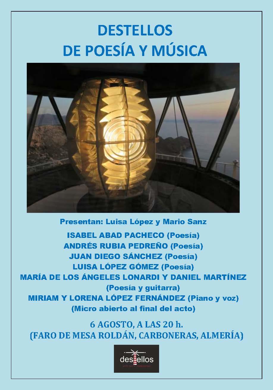 Recital de poesía y música en el faro de Mesa Roldán