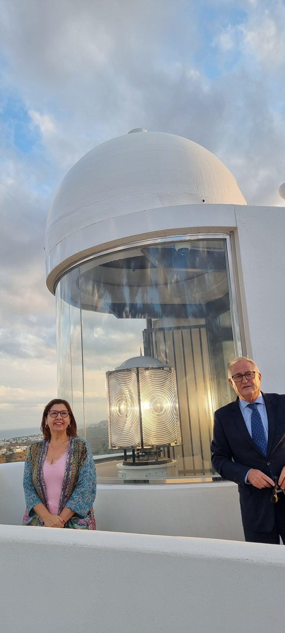 Inauguración del faro de Mojácar por la Autoridad Portuaria de Almería -APA-