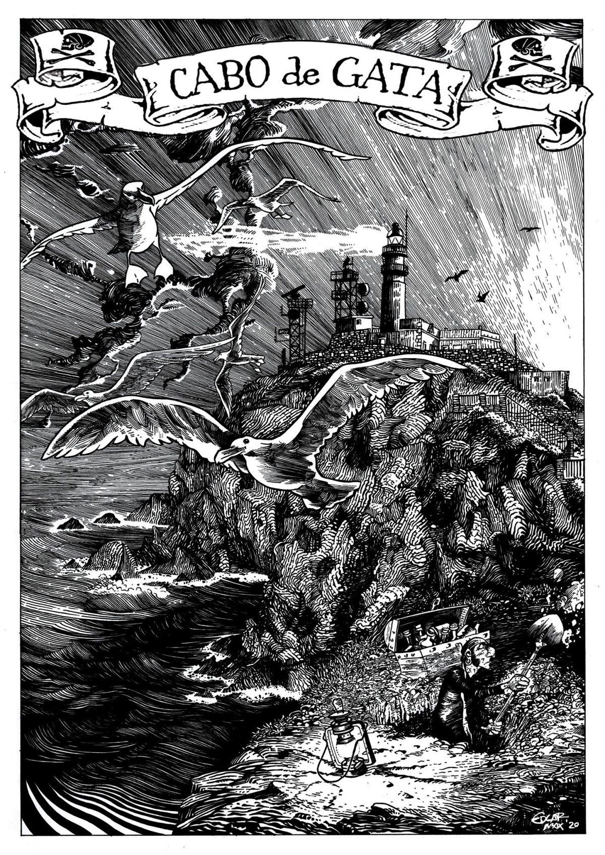 """Faros dibujados por Edgar Max, autor de """"Bill el Largo"""""""