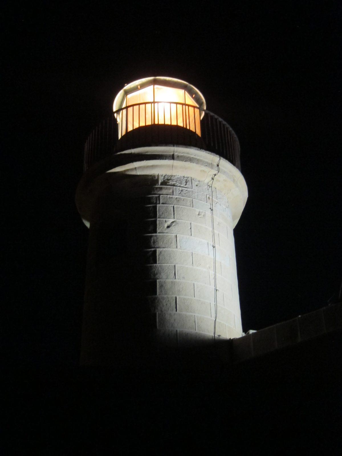 Visita nocturna al faro de Roquetas de Mar por Araceli (2ª parte)