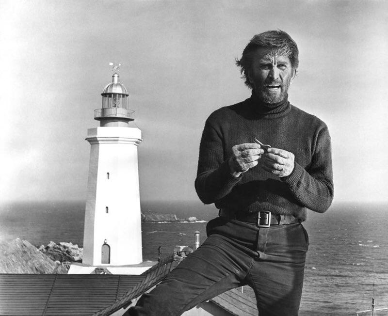 Kirk Douglas y el Faro del fin del mundo