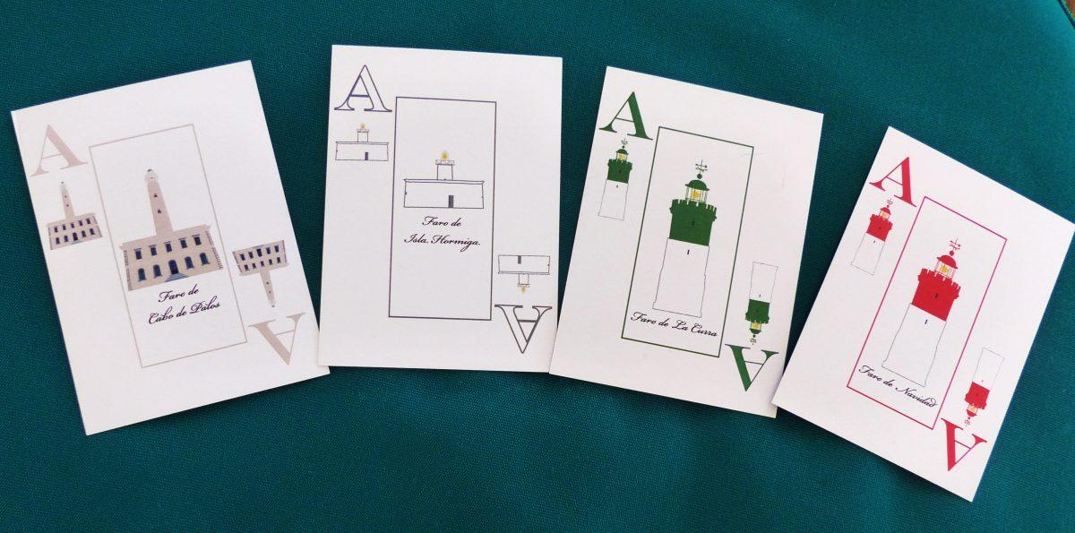 Una original baraja de cartas con un diseño exclusivo de los faros