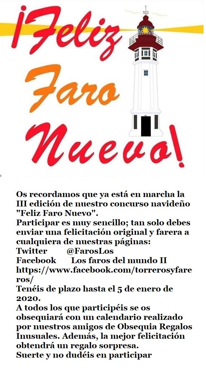 """III edición del concurso """"Feliz Faro Nuevo"""""""