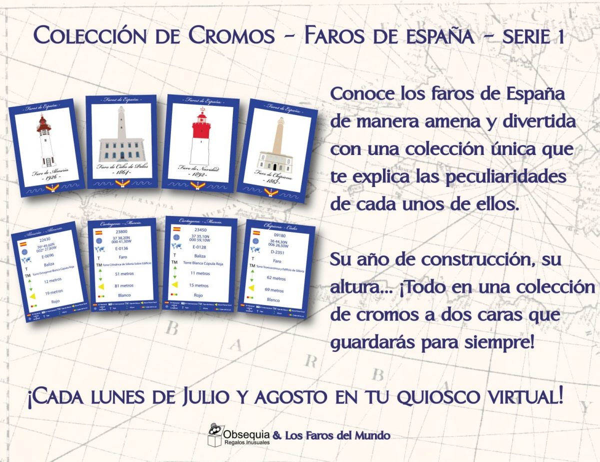 Colección de cromos. Faros de España. Serie 1