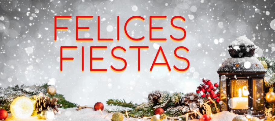 Os deseamos unas «Felices Fiestas»