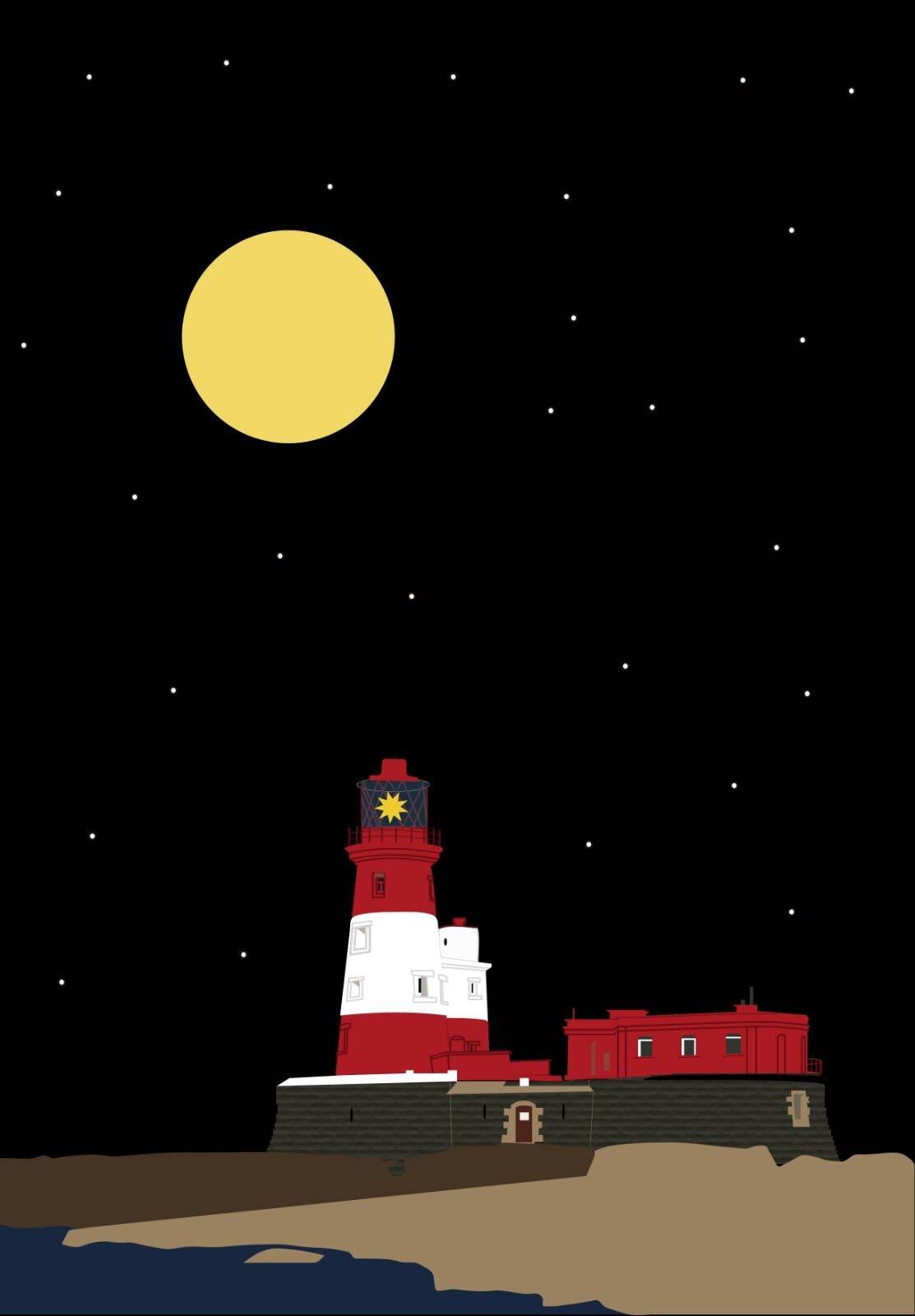 Lámina para el ganador del concurso «Feliz Faro Nuevo»