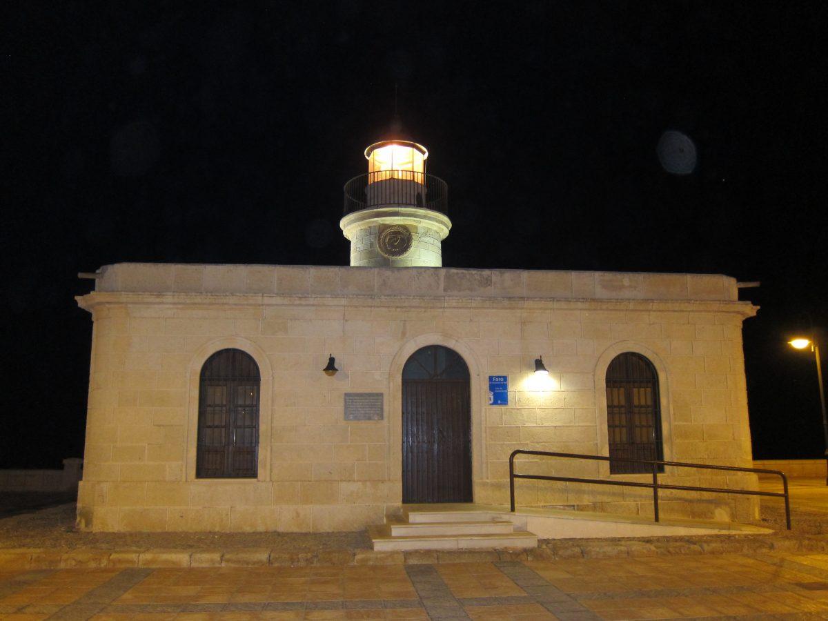 Visita nocturna al faro de Roquetas de Mar por Araceli (1ª parte)