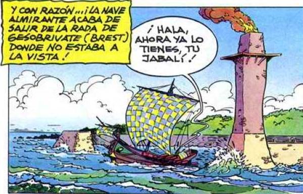 Uderzo y los faros en las aventuras de Astérix.