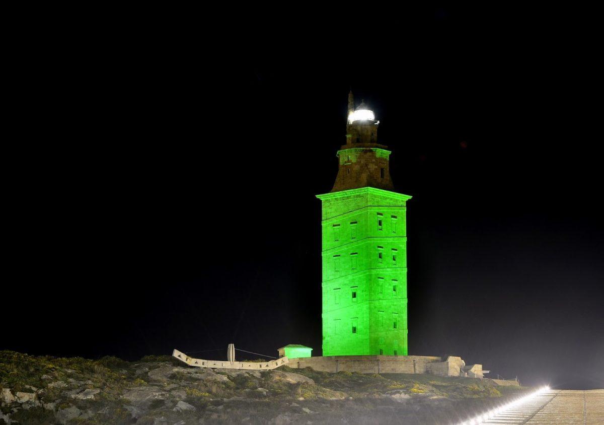 """""""St. Patrick's Day"""" en la Torre de Hércules (La Coruña)"""